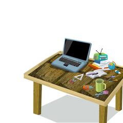 Cartoon technology - informatics - illustration