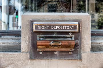 Night Deposit Tray of Abandoned Back