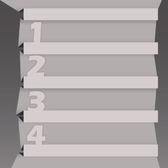 Origami infographic design with options