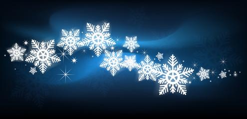 blue snowflake Christmas background