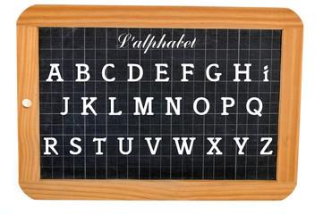 L'alphabet sur l'ardoise