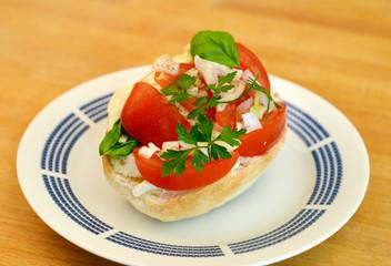 Tomaten Mozarella Brot