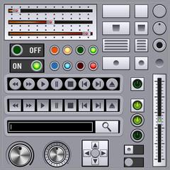 Retro style interface elements
