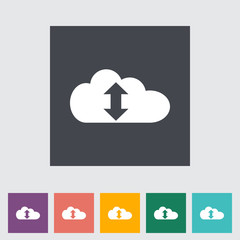 Cloud computing flat icon
