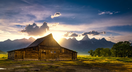 T.A. Moulton Barn After the Storm