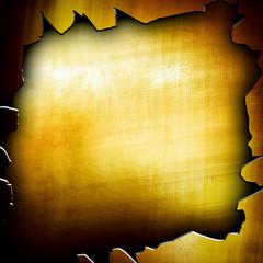 cracked golden plate background