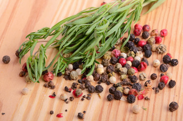Canvas Prints Spices Thyme with peppercorn