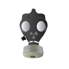Isolated vector Gas mask