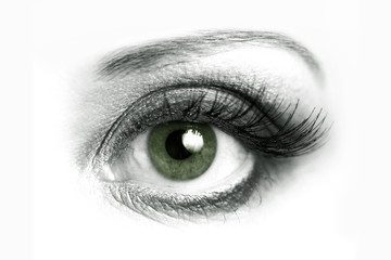 Open eye closeup