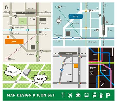 地図デザイン・アイコンセット