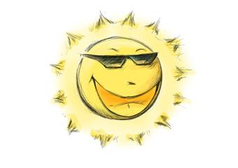 Fröhliche Sonne