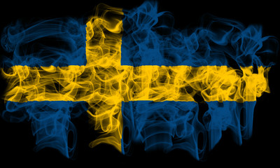 Smoking flag of Sweden