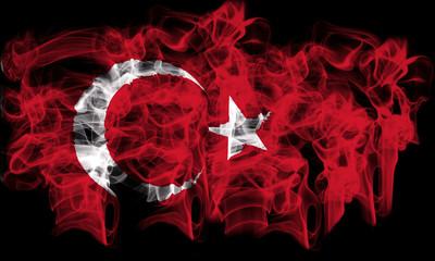 Smoking flag of Turkey