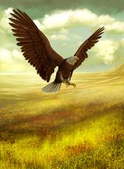 Fototapete - eagle fantasy land