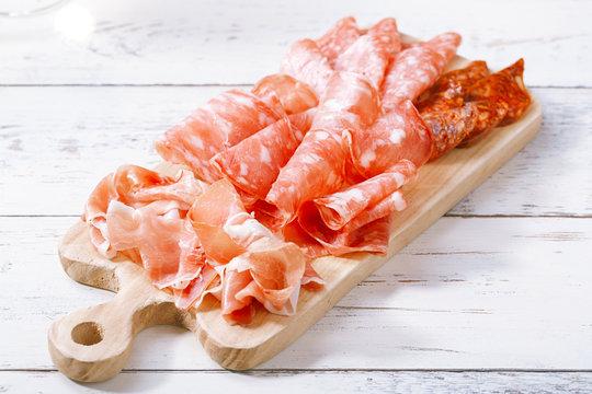 Platter of serrano jamon Cured Meat