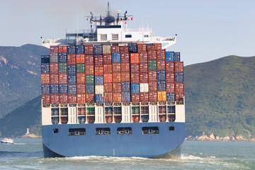 Cargo ship in Hong Kong
