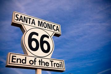 Foto op Plexiglas Route 66 Historic Route 66 Santa Monica sign