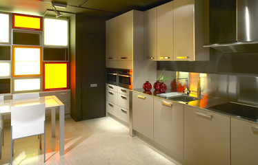 Domestic modern kitchen