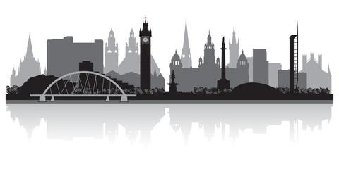 Wall Mural - Glasgow city skyline silhouette