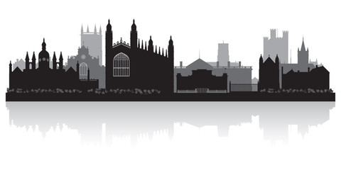Fototapete - Cambridge city skyline silhouette vector illustration