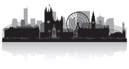 Wall Mural - Manchester city skyline silhouette