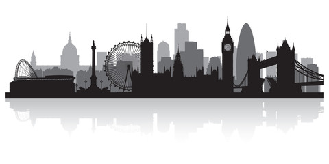 Fototapete - London city skyline silhouette