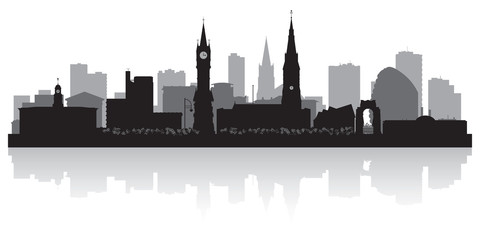 Wall Mural - Leicester city skyline silhouette