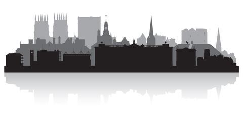 York city skyline silhouette Wall mural