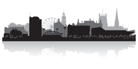 Sheffield city skyline silhouette