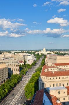 Washington D.C. skyline with major monumental buildings - Washington D.c. United States of America