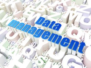 Data concept: Data Management on alphabet background