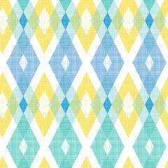 Vector colorful fabric ikat diamond seamless pattern background