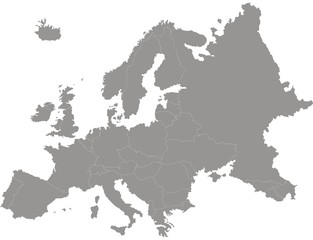 Obraz carte d'europe - fototapety do salonu