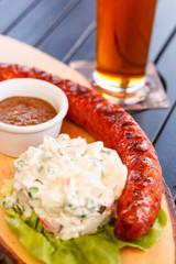 sausage with salad