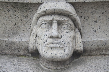 Stockholm City Hall, Front Garden, first ornamental head