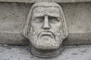 Stockholm City Hall, Front Garden, third ornamental head