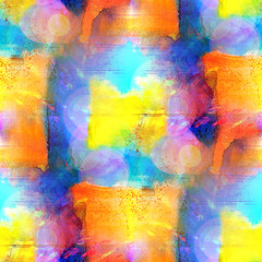 sunlight seamless abstract art yellow, blue texture, watercolor