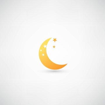 moon icon vector