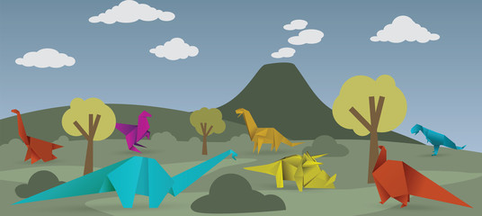 World of origami dinosaurs