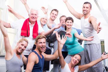 motivierte sportgruppe