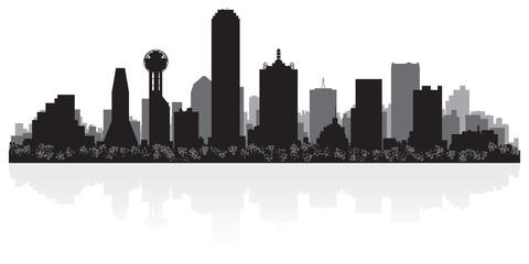 Wall Mural - Dallas city skyline silhouette