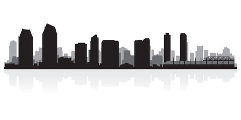 Wall Mural - San Diego city skyline silhouette