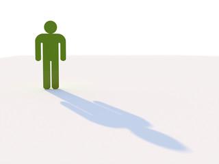 One green man