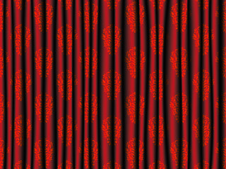 Red Curtain Abstrakt Vector Background
