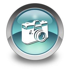 "Light Blue Glossy Pictogram ""Camera"""
