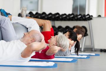 bauchtraining im fitnessstudio