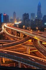 Stadtautobahn in Shanghai China