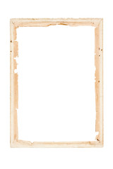 old paper frame retro on a white background with clipping path