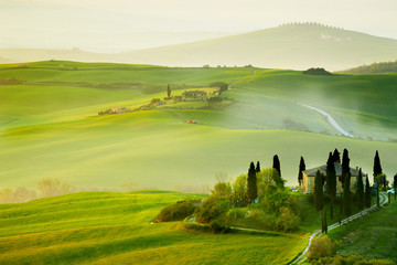 Foto op Canvas Toscane Countryside, San Quirico´Orcia , Tuscany, Italy