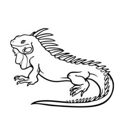 Leguan Silhouette Vektor